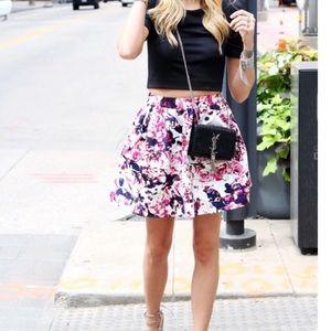 Express flare mini skirt